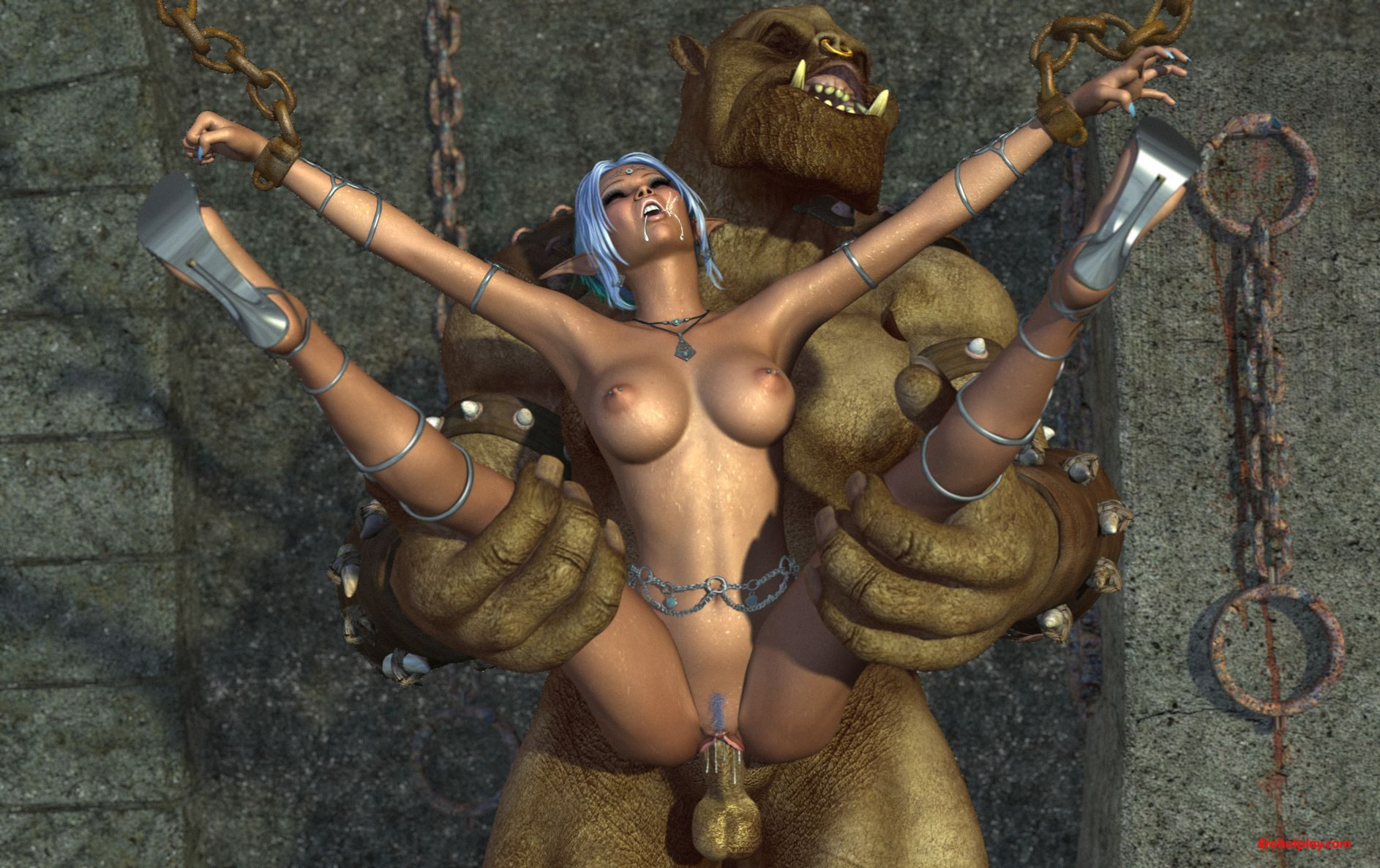 Elf ogre fantasy porn cartoon clip