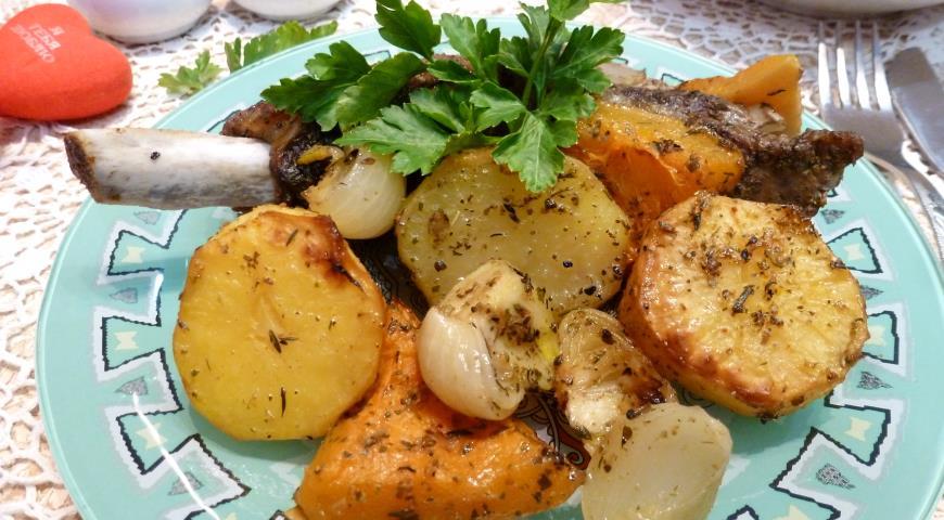 Картошка с свининой в духовке пошаговый рецепт с