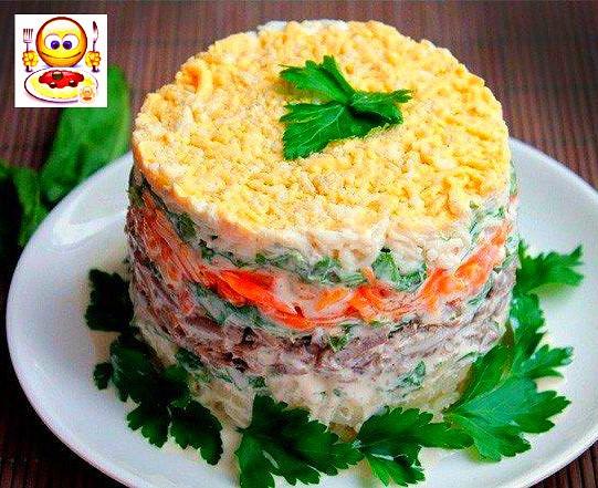 Салат печеночный вкусный рецепт с