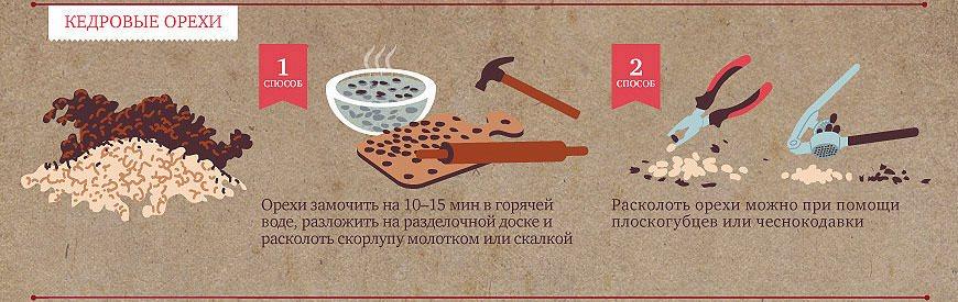 Чистка кедровых орехов в домашних условиях