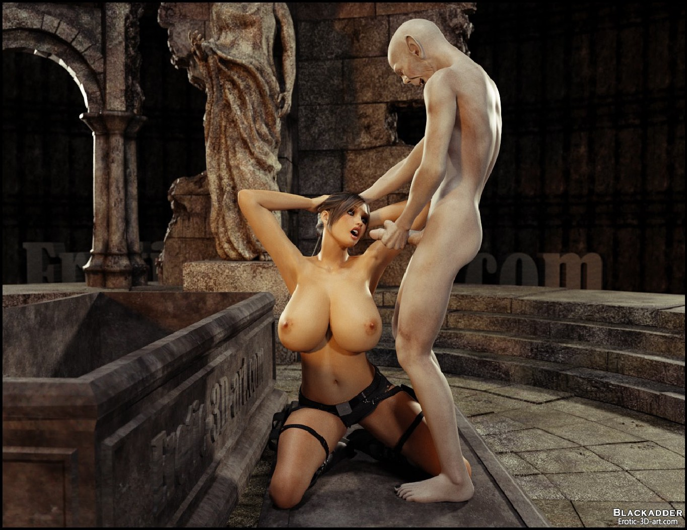 Lara croft fuck by monster 3dsexsins erotic comics