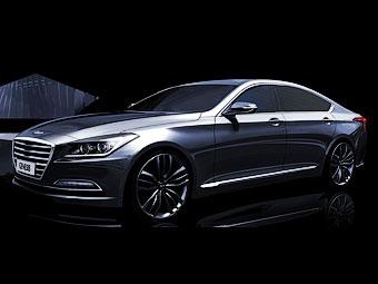 Hyundai Genesis. Иллюстрации Hyundai