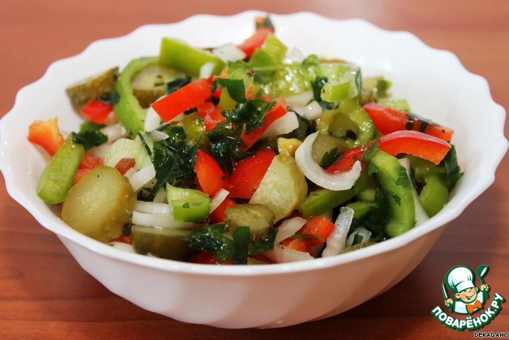 Фото салатов с болгарским перцем и зеленью