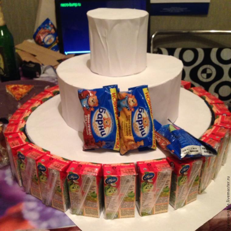 Торт из конфет как сделать основу
