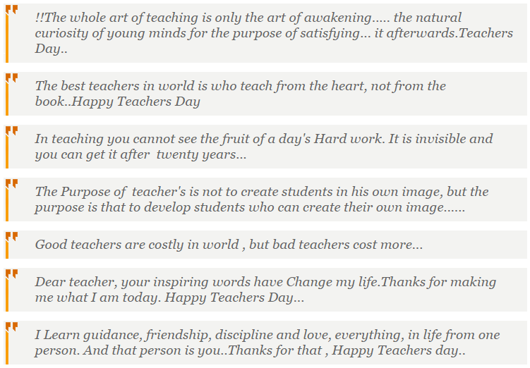 Teacher's Day Essay, Quotes, Massages, Story (Photo