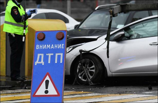 Автоледи разбилась наInfiniti вМоскве