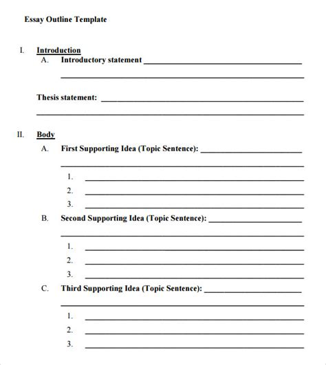 Write my outline for 5 paragraph essay template