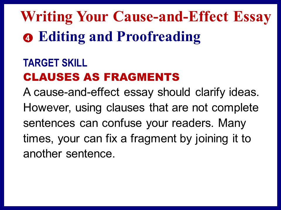 Cause and effect essay writing help, ideas, topics