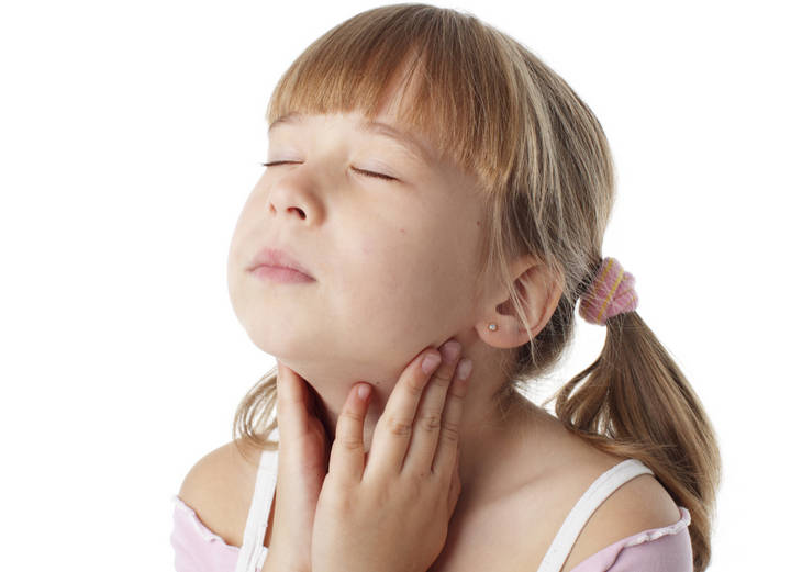 Кашель, температура, красное горло у ребенка