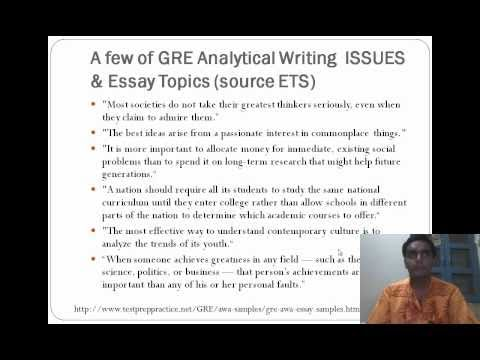 "SparkNotes: GRE: A Sample ""6"" Issue Essay"
