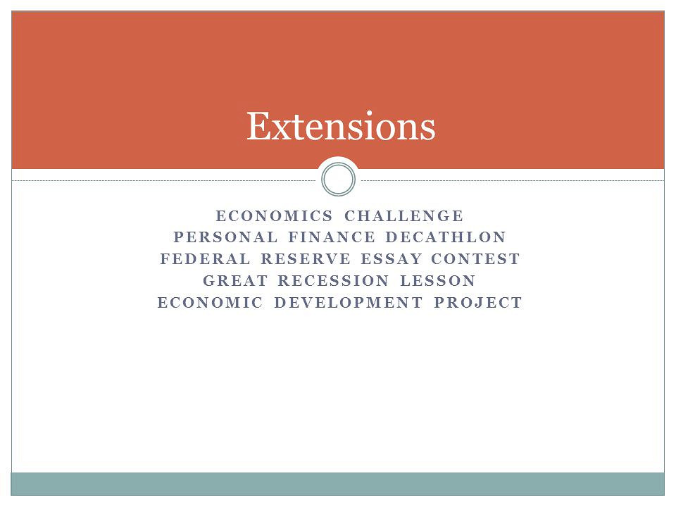 Essays on recession