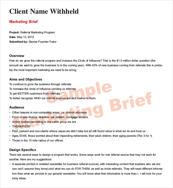 Fieldstation.co  Case Brief Template Word