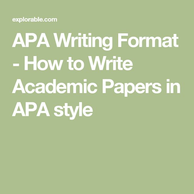 How to write a reference page in apa format