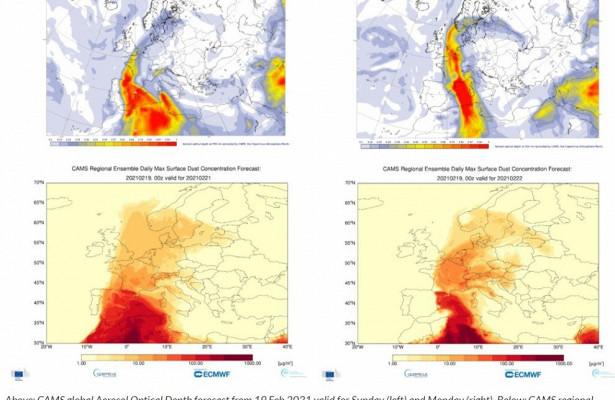 Европейские ученые: наПетербург ползет гигантское облако песка изСахары
