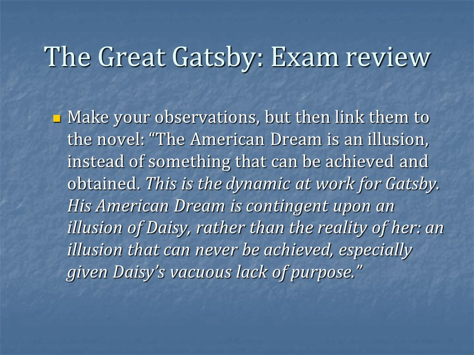 The great gatsby comparison essay