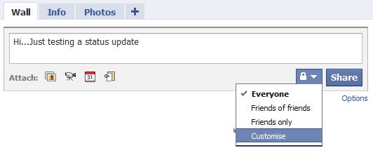 Facebook dating status