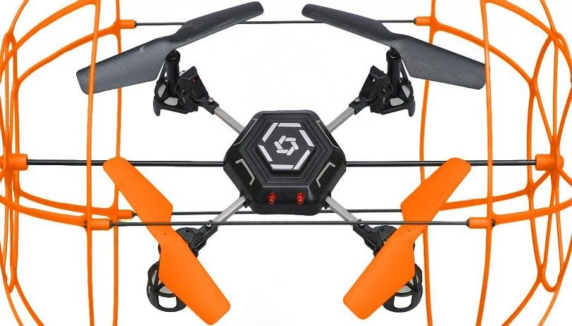 Квадрокоптер с защитой от столкновений защита от падения жесткая к дрону спарк