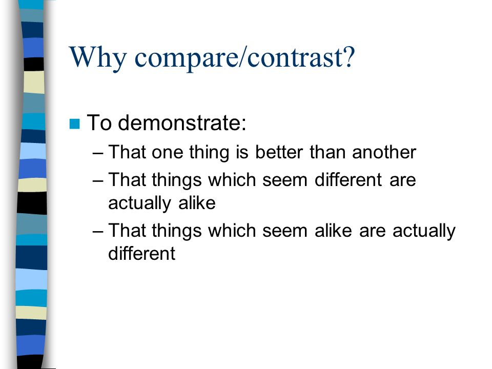 Compare Contrast Essay: An Extensive List Of Topics