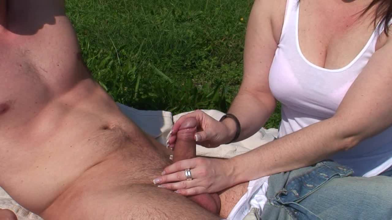 Teen brunette blowjob sideways 00
