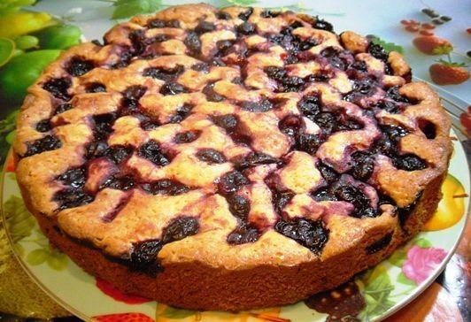 рецепт вкусного вишневого пирога фото