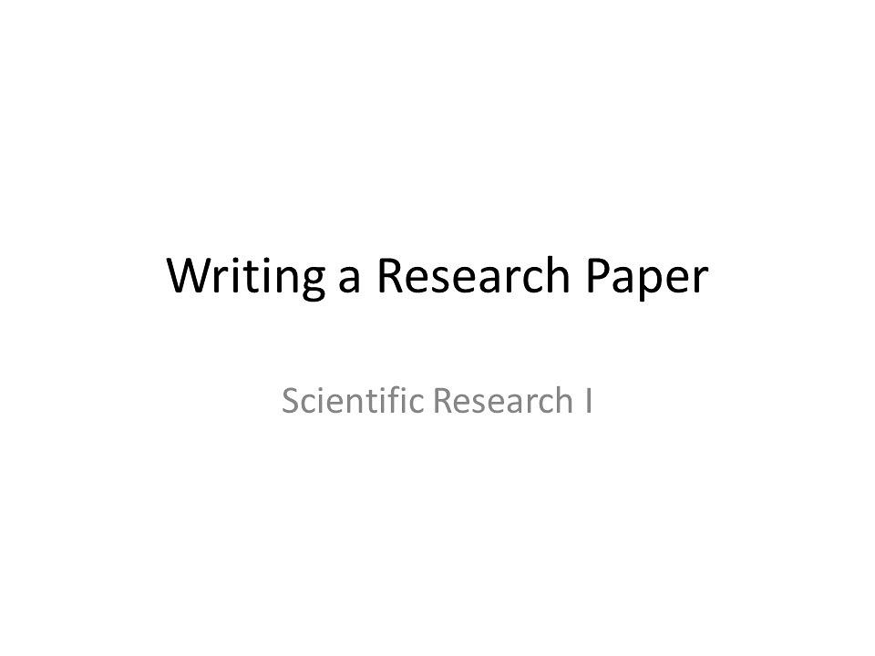 Write my science research paper example