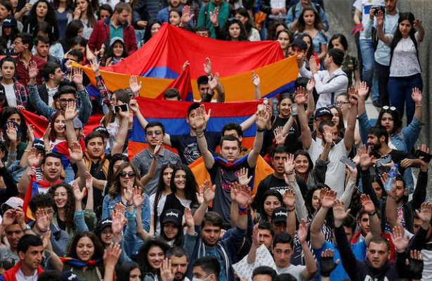 ВАрмении начался митинг против «Никола предателя»