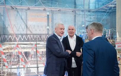 Собянин осмотрел ходкапремонта театра «Современник»