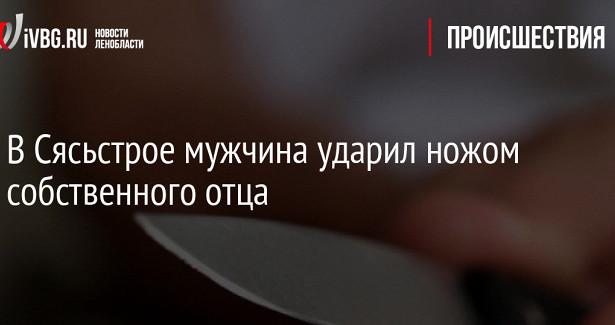 ВСясьстрое мужчина ударил ножом собственного отца