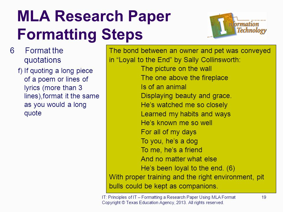 Mla citations in a research paper
