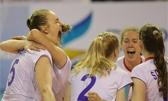Российские волейболистки одержали третью победу наЧЕU19