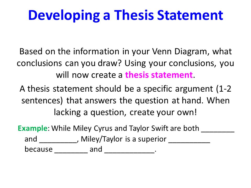 Thesis statement wikipedia