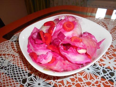 Капуста маринованная быстрого приготовления со свеклой рецепт с фото пошагово