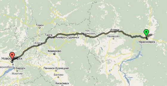 маршрут автобусов красноярск новосибирск цена