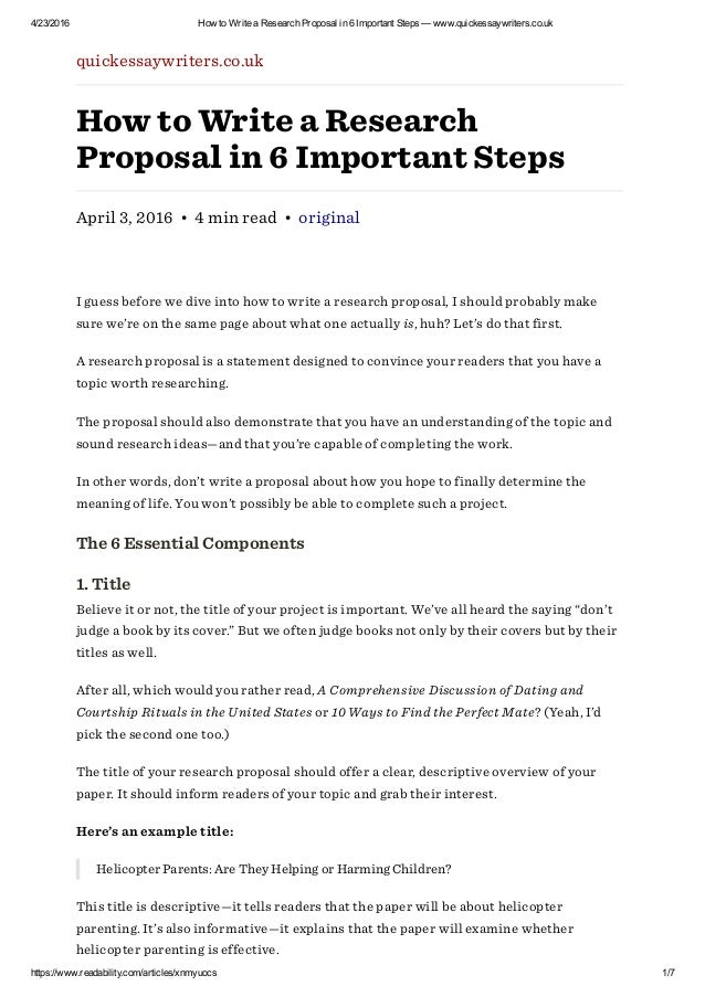 Project Proposal Writing - SlideShare