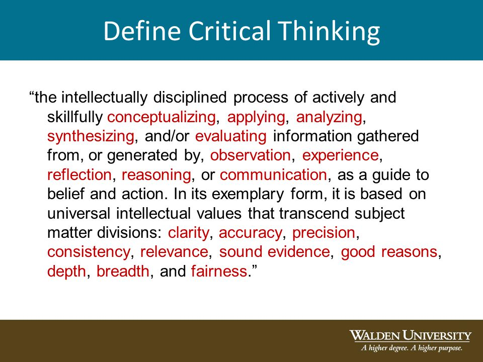 Critical Thinking Guide - UNSW Current Students