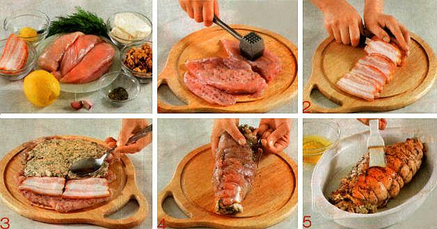 рулет из курицы рецепт с фото пошагово