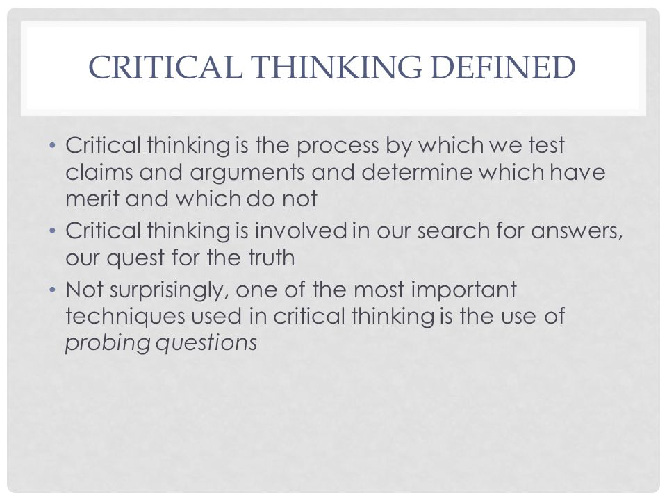 Write my define critical thinker
