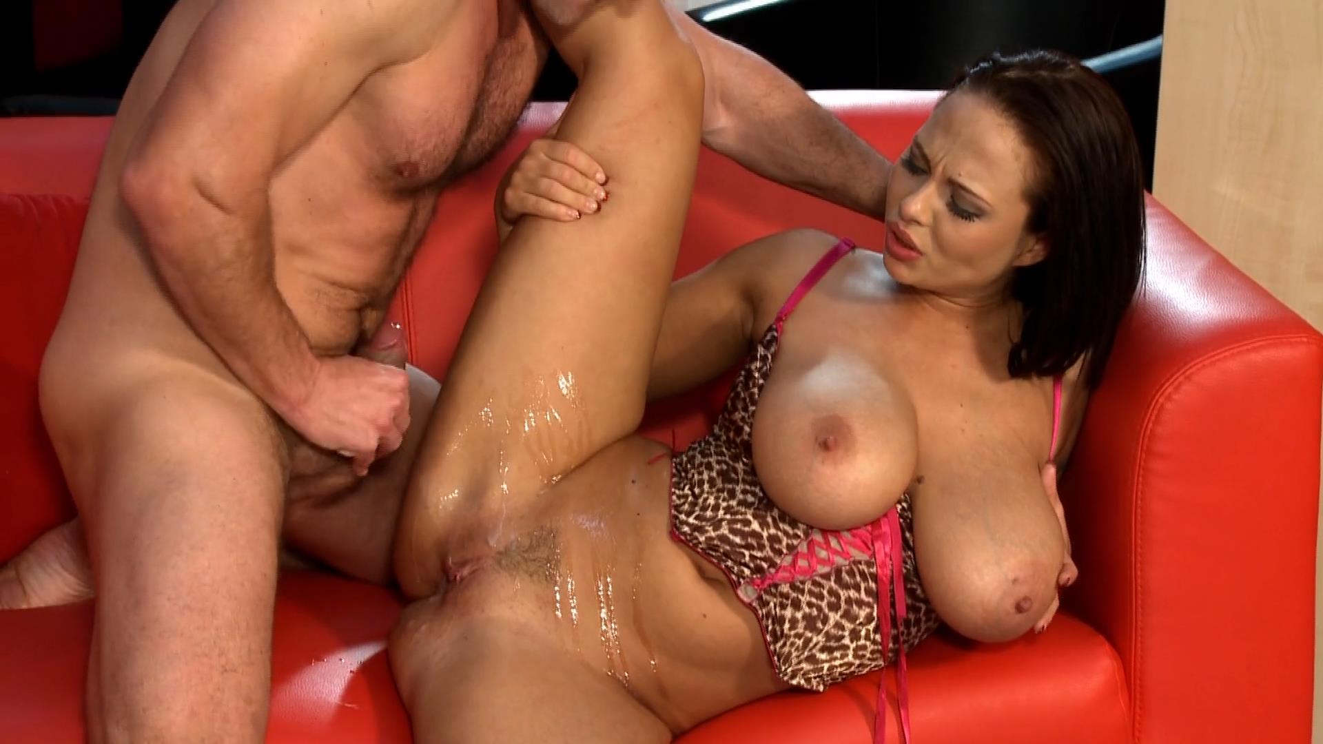 Big boobed woman getting fucked