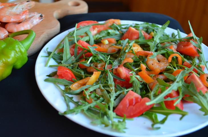 лучший рецепт салата из креветок с фото