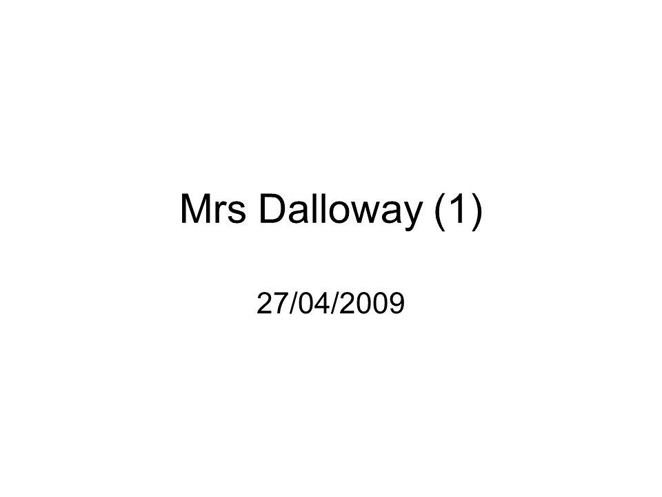 Mrs Dalloway Essays: Examples, Topics, Titles, Outlines