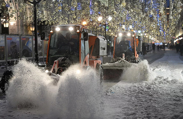 Снегопад вМоскве утихнет днем