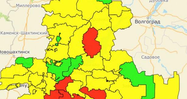 Вдвое меньше, чемнеделей ранее: в«красную» зону поковиду вошли шесть районов Ростовской области