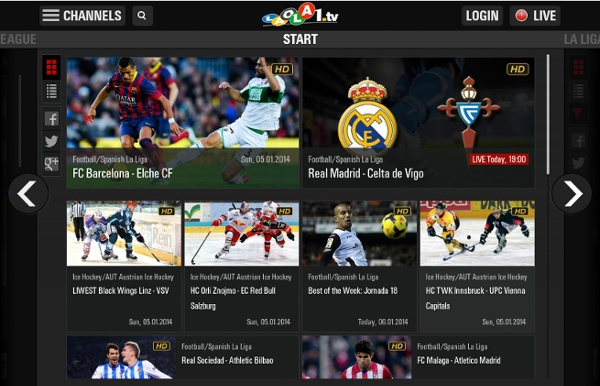 Live tv streaming sports football
