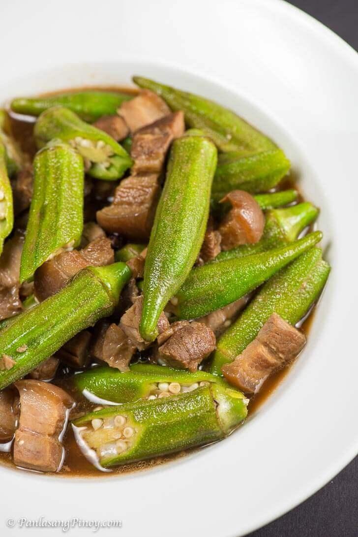Adobong okra with pork recipe panlasang pinoy forumfinder Gallery