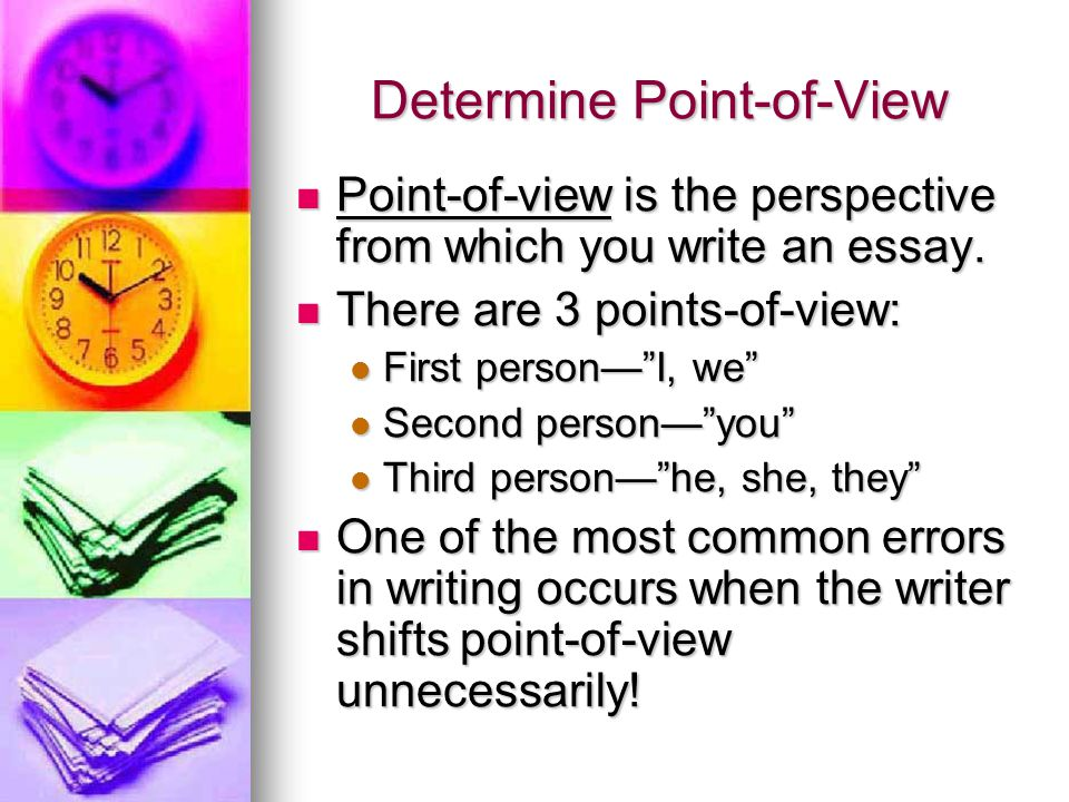 Point of view essay topics