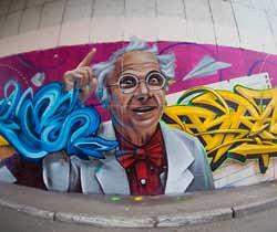 Челябинские райтеры нарисовали граффити к1сентября