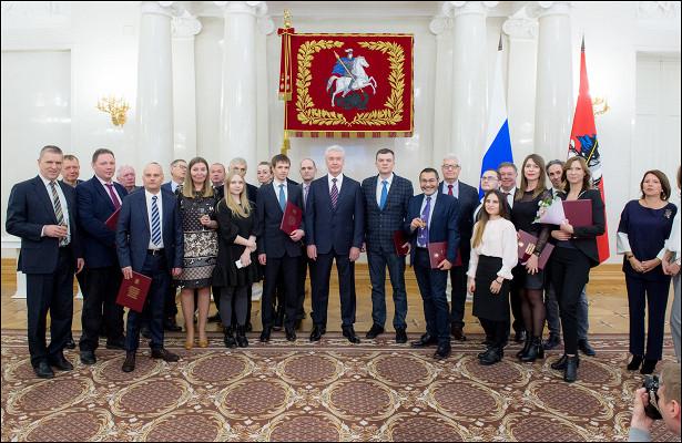 МэрМосквы вручил премии вобласти журналистики