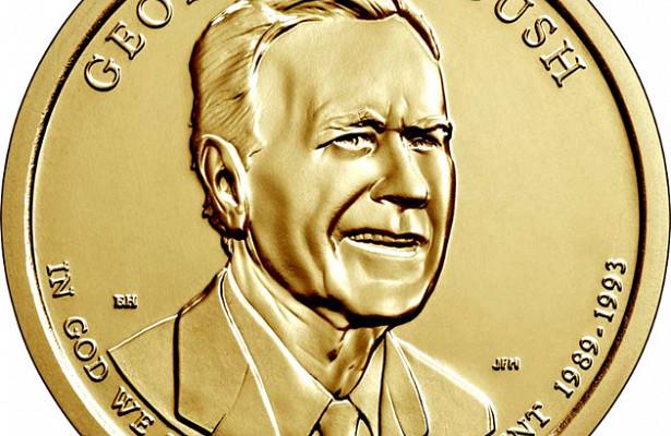 Джордж Буш-старший на1долларе США