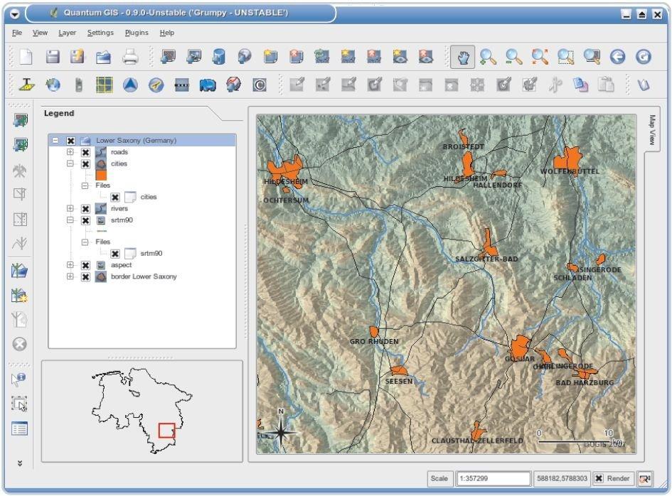 Download Quantum GIS - free - latest version