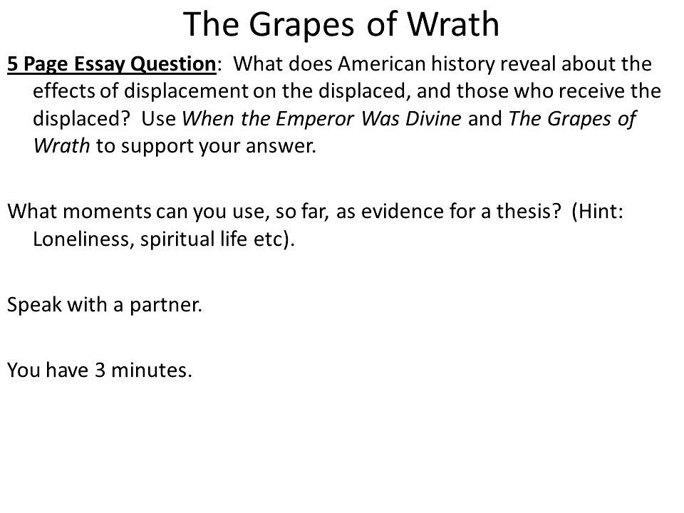 Write my grapes of wrath essay topics